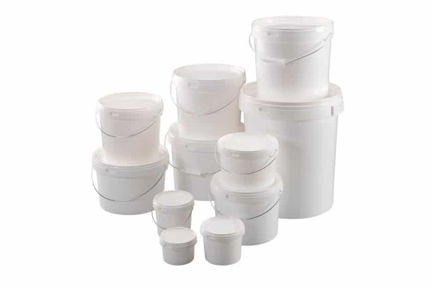 Les seaux en plastiques peuvente être en polyethylene ou en polypropylene