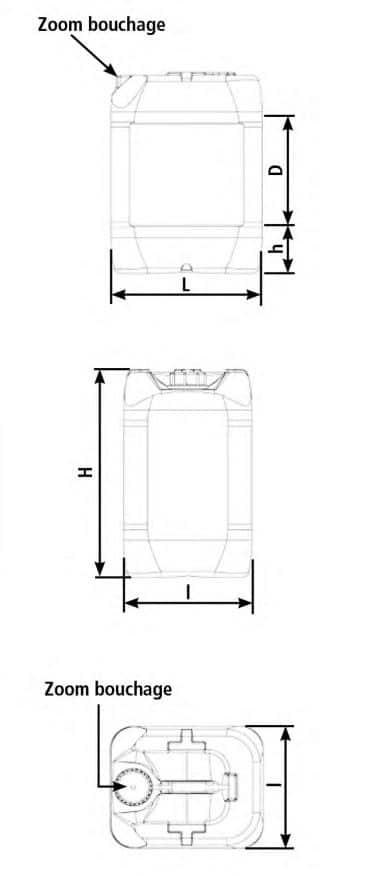 Bidon Plastique 20L 25L UDR