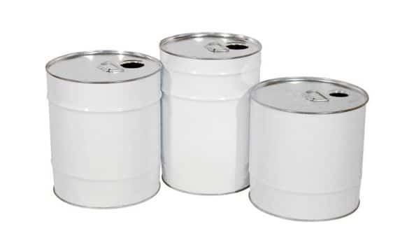 Bidon cylindrique métal acier